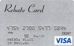 $20 Visa Rebate Debit Card (no Value) - Gift Cards