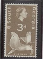 M10 - SOUTH GEORGIA - Yvert 13 ** MNH De 1963 - FAUNE - OTARIE - - Géorgie Du Sud