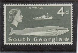 M10 - SOUTH GEORGIA - Yvert 14 ** MNH De 1963 - FAUNE - RORQUAL - - Géorgie Du Sud