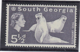 M10 - SOUTH GEORGIA - Yvert 15 ** MNH De 1963 - FAUNE - ELEPHANT De MER - - Géorgie Du Sud