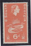 M10 - SOUTH GEORGIA - Yvert 16 ** MNH De 1963 - FAUNE - OISEAUX - ALBATROS FULIGINEUX- - Géorgie Du Sud