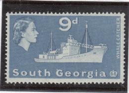 M10 - SOUTH GEORGIA - Yvert 17 ** MNH De 1963 - BATEAUX - BALEINIER - - Géorgie Du Sud