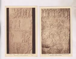 2 CPA ART ASSYRIEN, PERSE, SCENES DE GUERRE - Antichità