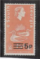 M10 - SOUTH GEORGIA - Yvert 32 ** MNH De 1971- SURCHARGE - FAUNE - ALBATROS FULIGINEUX - - Géorgie Du Sud