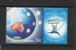 2003 ZODIAC - AQUARIUS THE WATERBEARER 50c MNH MAP Stamp With RIGHT MARGIN TAB - Issued In AUSTRALIA - 2000-09 Elizabeth II