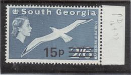 M10 - SOUTH GEORGIA - Yvert 36 ** MNH De 1971- SURCHARGE - FAUNE - GRAND ALBATROS - - Géorgie Du Sud