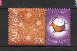 2003 ZODIAC - CAPRICORN THE GOAT 50c MNH ABORIGINAL DESIGN Stamp With RIGHT MARGIN TAB - Issued In AUSTRALIA - 2000-09 Elizabeth II