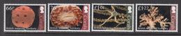 2017 British Antarctic Territory Corals Marine Life Complete Set Of 4 MNH  @FACE VALUE - Unused Stamps
