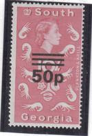 M10 - SOUTH GEORGIA - Yvert 38 ** MNH De 1971- SURCHARGE - FAUNE - KRILL - - Géorgie Du Sud