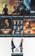 CARTE VIDEO FUTUR  LOT DE 7 CARTES  VOIR LE SCAN - Télécartes