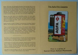 UK - BT - BTG564 - AGFA - Special Shape Hot Air Baloons - Limited Edition 1000ex - Mint In Folder - Reino Unido