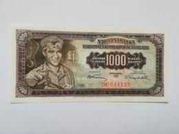 JUGOSLAVIA 1000 DINARI 1955 - Jugoslavia