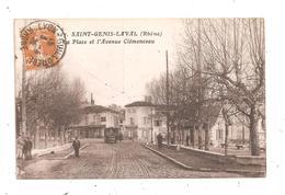 Saint-Genis-Laval-La Place Et L'Avenue Clémenceau-(C.8886) - Altri Comuni