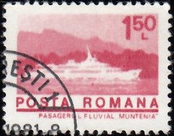 ROMANIA - Scott #2462 Muntenia Passenger Ship (*) / Used Stamp - 1948-.... Republics