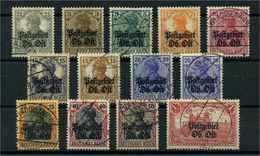 OBER.OST 1916 Nr 1-12 Gestempelt (109759) - Besetzungen 1914-18