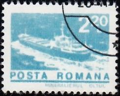 ROMANIA - Scott #2465 Ore Carrier Oltul (*) / Used Stamp - 1948-.... Republics