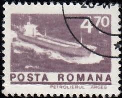 ROMANIA - Scott #2467 Tanker Arges (*) / Used Stamp - 1948-.... Republics