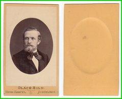 CDV Photografie: Hermann Hampel, Schönlinde - Portrait, Feiner Herr Mann Homme Man Gentleman #0208 - Photographs