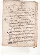 Gen  D'Auch 4 Nov 1750 Eaux Et Forets Procès Verbal De Division Des Coupes De Fabas '6 Scans - Cachets Généralité