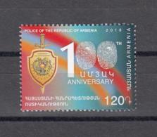 Armenia Armenien MNH** 2018 100 Year Aniv Of Foundation Of Police  Mi 1077 - Arménie