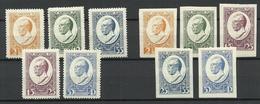 LETTLAND Latvia 1929 Michel 144 - 148 A + B * - Letland
