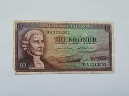 ISLANDA 10 KRONUR 1961 - Iceland