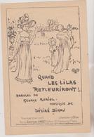 (GEO1) Quand Les Lilas Refleuriront , DELMET  ,  Paroles GEORGE  AURIOL , Musique DESIRE DIHAU - Partitions Musicales Anciennes