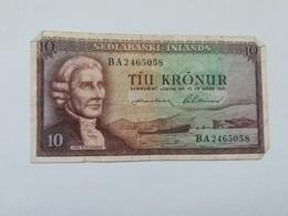 ISLANDA 10 KRONUR 1961 - Island