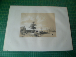 Vue De Dordrecht. (effet Du Matin ). Lithographie Originale Du 19e Siècle ( Vers 1850 ) - Estampes & Gravures