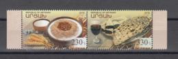 Karabakh Artsakh Armenia MNH** 2018 Gastronomy Mi 174-75 - Armenia