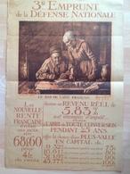 Affiche Ancienne - 3è Emprunt Défense Nationale - Le Bas De Laine Français - Ridway Knight - Affiches