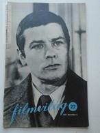 ZA153.2 Cinema  Periodical 1977  FILMVILÁG - Films -Movies - Alain Delon On Front Cover Hungarian  Ed.  1977 - Livres, BD, Revues