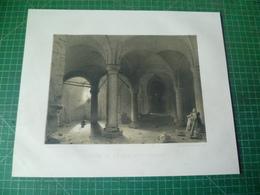 Crypte De L'Eglise D' Anderlecht. Lithographie Originale Du 19e Siècle ( Vers 1850 ) De Paul Lauters - Estampes & Gravures