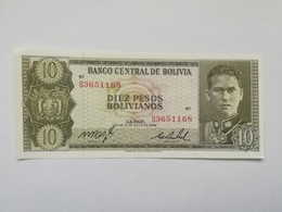 BOLIVIA 10 PESOS 1962 - Bolivia