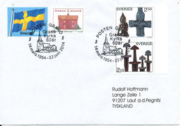 Sweden Cover With Special Postmark 22-6-2014 Granö Kyrka 60th Anniversary Sent To Germany - Suède