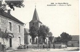 Mareilles NA1: L'Ecole Et L'Eglise - Autres Communes