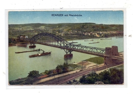 """5480 REMAGEN, Hindenburg Eisenbahn - Brücke Remagen - Erpel, """"Die Brücke Von Remagen"""", 1924, Belg. Militärpost - Remagen"""
