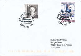 Sweden Cover With Special Postmark Stamps In Svedala 30-3-2014 Sent To Germany - Suède