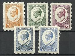 LETTLAND Latvia 1929 Michel 144 - 148 A * - Lettland