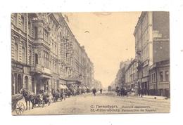 RU 190000 SANKT PETERSBURG, Newsky Prospekt, 1909, Belebte Szene, Bahnpost / TPO - Russland