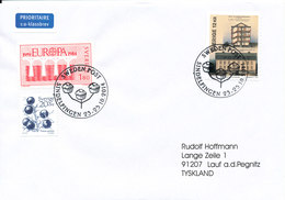 Sweden Cover With Special Postmark Sweden Post Sindelfingen 23-25/10-2014 Sent To Germany - Suède