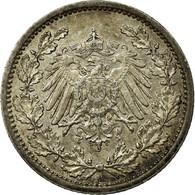 Monnaie, GERMANY - EMPIRE, 1/2 Mark, 1914, Berlin, TTB+, Argent, KM:17 - [ 2] 1871-1918: Deutsches Kaiserreich