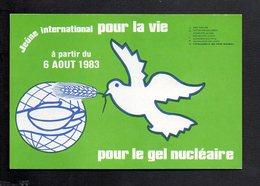 Manifestation / Ecologie / Pétition Pour Le Jeûne International Pour La Vie Du 6/081983  Pour Le Gel Nucléaire (Colombe) - Manifestations