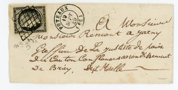 SEINE LST 1849 PUTEAUX GRILLE SUR N°3 SUPERBE T15 SIGNE FOURCAUT  INDICE 18 COTE 340 EUROS - 1849-1876: Période Classique