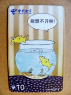 Phonecard Plastic Card From China Telecom Animal Aquarium Fishes Poissons 10y. - Chine