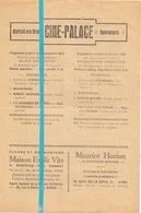 Ciné Cinema Bioscoop Pub Reclame Programma - Ciné Palace Gand Gent - 1930 - Publicité Cinématographique