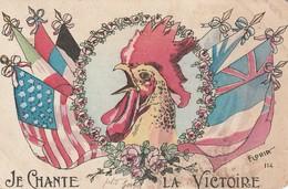 Rare Cpa Je Chante La Victoire - 1914-18
