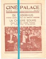 Ciné Cinema Bioscoop Pub Reclame Programma - Ciné Palace Gand Gent - De Vledermuis - Publicité Cinématographique