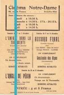 Ciné Cinema Bioscoop Pub Reclame Programma - Programme Cinéma Notre Dame - Bruxelles - Publicité Cinématographique