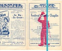 Ciné Cinema Bioscoop Pub Reclame Programma - Select Gent - Festival Charlie Chaplin - Capitole - Eldorado - Publicité Cinématographique